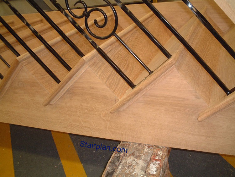 Oak Cut String Staircases