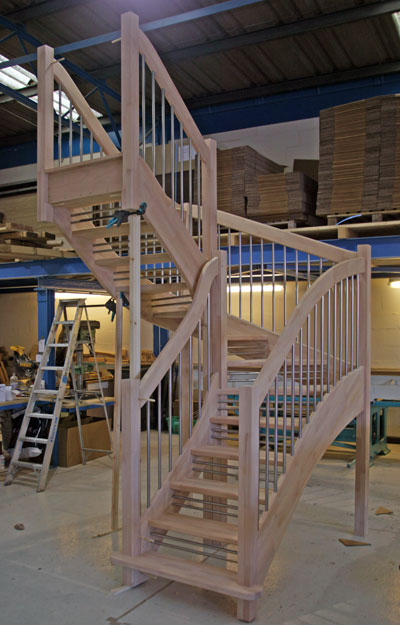 Openplan winder staircase