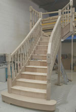 Oak flared staircases