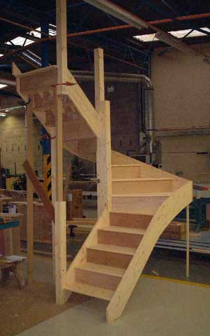 180 degree turn staircase
