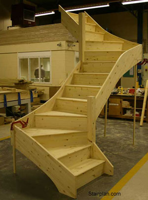 Z form winder stair